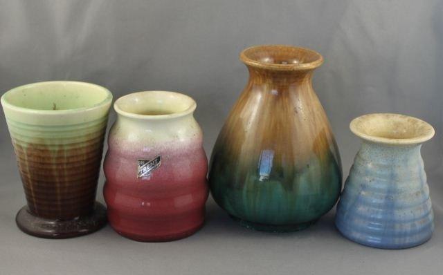 Four Australian Pottery Vases,