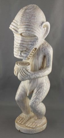 "1004A: Good Rare Carved Ivory Baule ""Mbra"" Figure,"