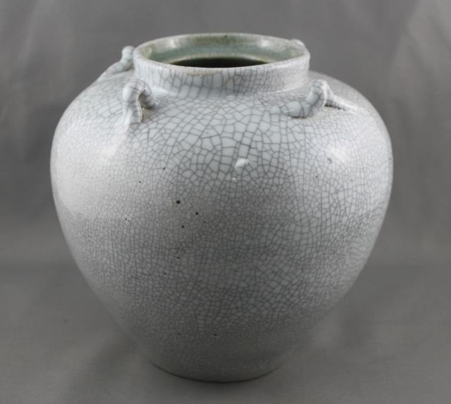 1008: A Chinese Crackle Glaze Globular Pot