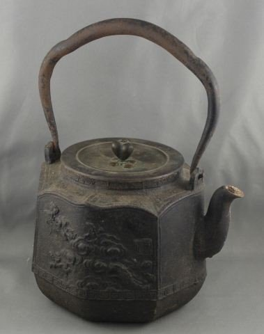 1016: A Japanese Bronze Tea Pot, Meijii Period