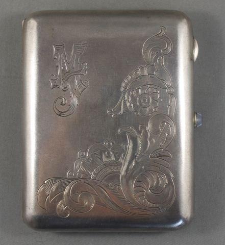 4: Polish Silver Cigarette Case,