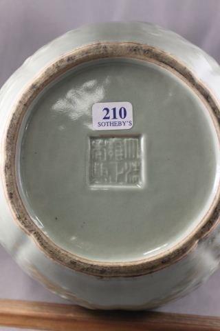 11: Chinese Porcelain Celadon Vase,