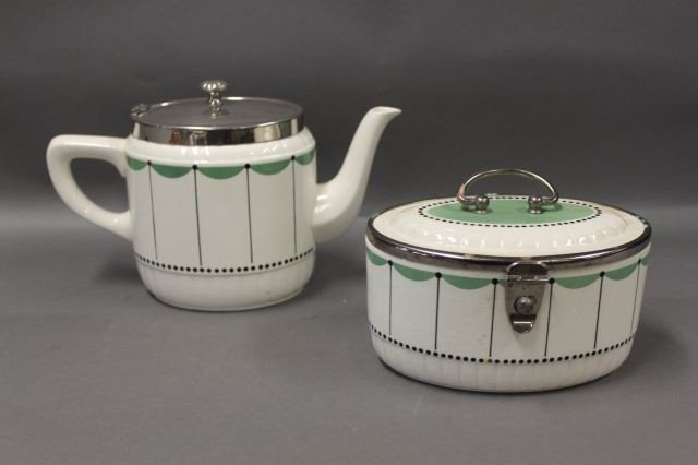 12: Vienna Secessionist Teapot and Canister,