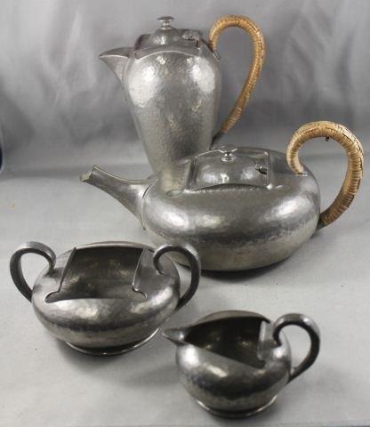 16: Four Piece Tudric Pewter Tea & Coffee Service,