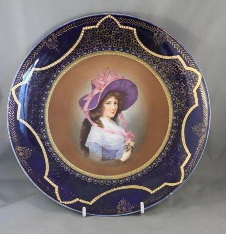 17: Good Royal Vienna Porcelain Cabinet Plate,