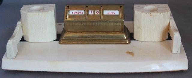 19: Wonderful Ivory Desk Set,