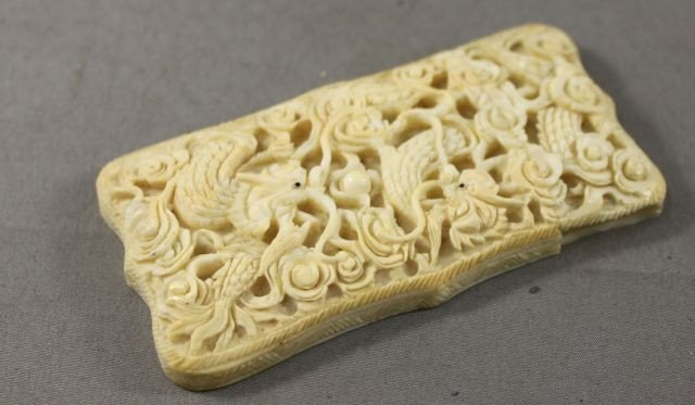 246: Chinese Ivory Card Case,