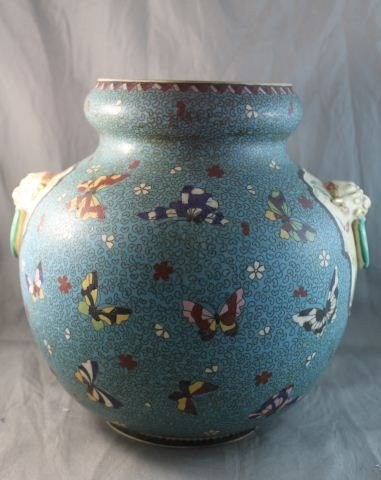 4: Good Japanese Cloisonne and Porcelain Baluster