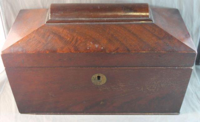 5: 19th Century Mahogany Tea Caddy,