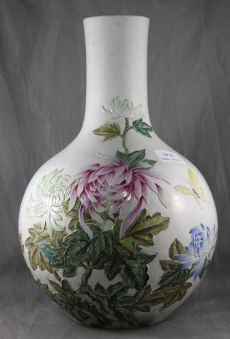 10: Good Chinese Famille Vert Porcelain Vase,