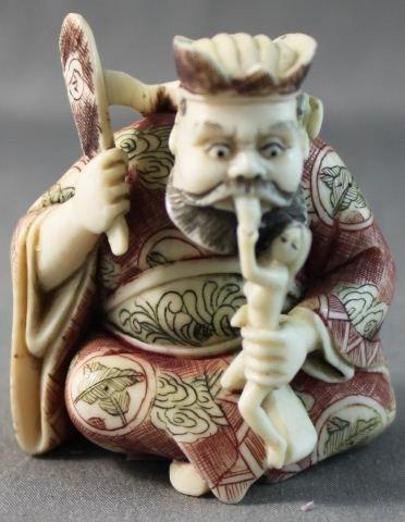 14: Carved Ivory Netsuke,