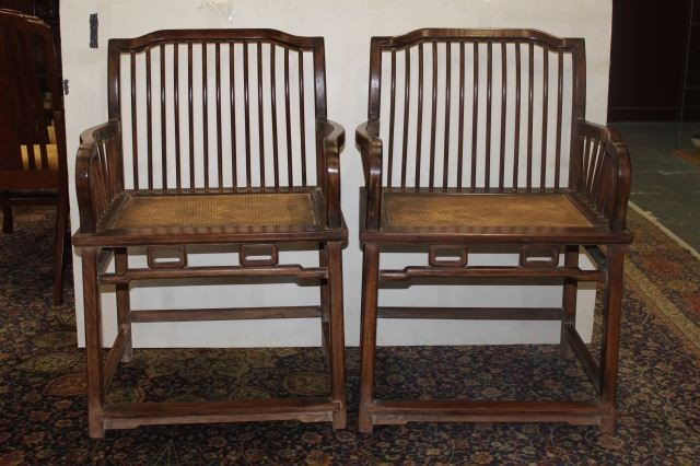 """17A: Pair of Southern Official Chairs """"Nanguanmaoyi"""""""