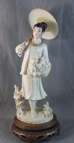 244: Good Chinese Carved Ivory Figure,