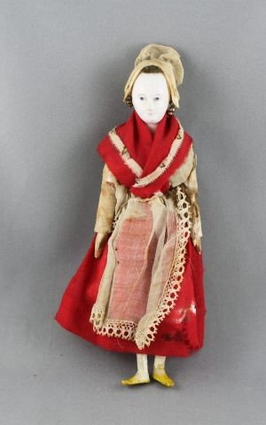 242: Rare French Carved Wooden Doll