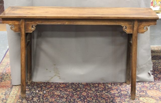 9: Rare Chinese Huanghali Recessed-Leg Table,