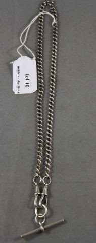 10: Sterling Silver Fob Chain and Bar,
