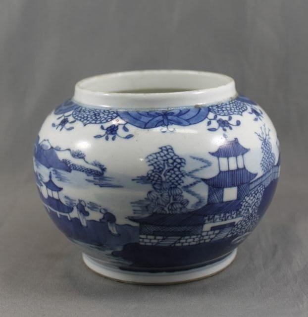 10A: Chinese Porcelain Blue and White Jar,