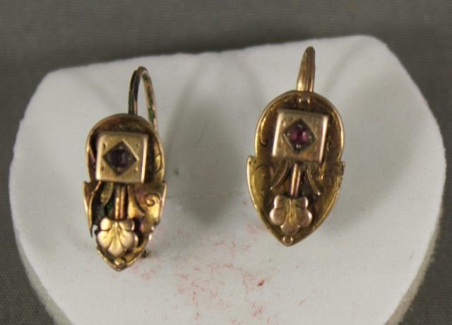 11: Pair of Victorian Gold Earrings,