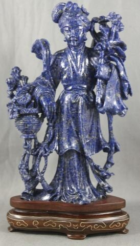 19: Good Chinese Carved Lapis Lazuli Figure,