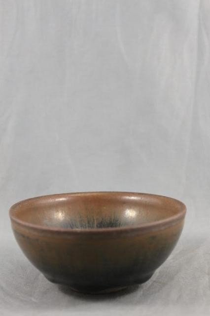 318: Chinese Black and Brown Glaze Bowl,