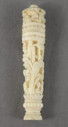 5: Chinese Qing Dynasty, 19th Century Ivory Needle Case