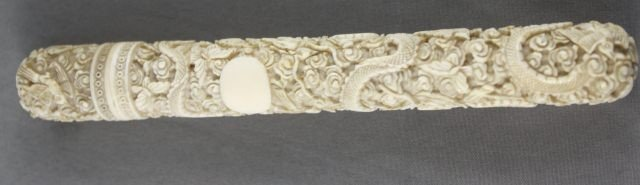 7: Good Chinese Qing Dynasty, 19th C Ivory Netting