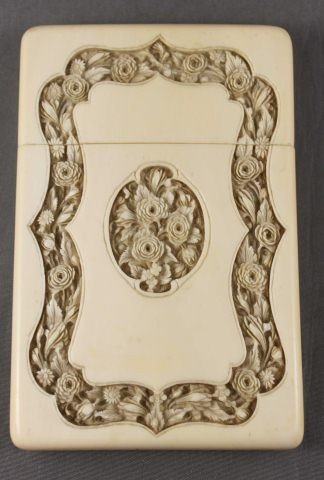 23: Superb Chinese Qing Dynasty, 19th C Ivory Card Case