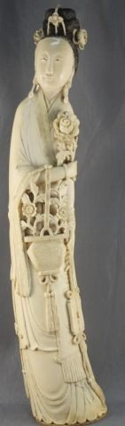 Good Large Chinese, Qing Dynasty, 18th Century Ivory