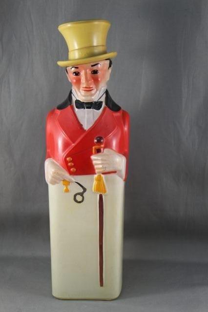 207: Johnny Walker Figural Glass Decanter,