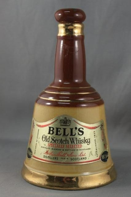 288: Small Wade Porcelain Bells Whiskey Decanter
