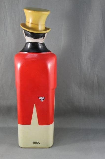 295: Johnny Walker Glass Figural Decanter and Stopper, - 2