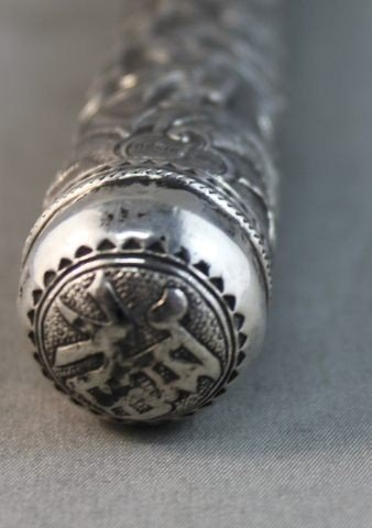 4: Chinese Sterling Silver Parasol Handle,