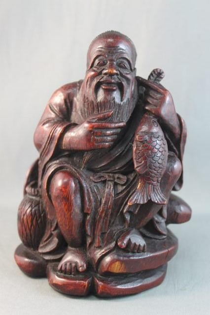 9A: Good Chinese Carved Bamboo Figure,