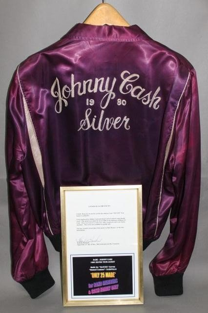 "275: Very Rare Johnny Cash Tour Jacket ""Silver 1980"""