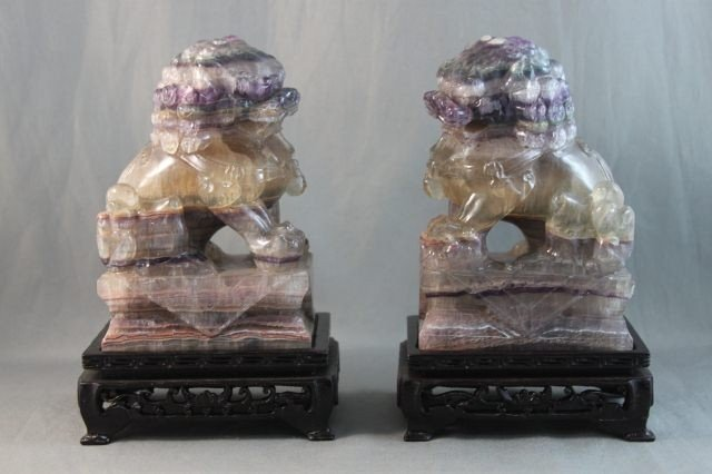 3: Beautiful Pair of Chinese Amethyst, Rock Crystal