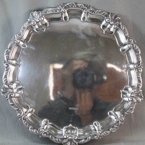 7: George V Sterling Silver Footed Salver,