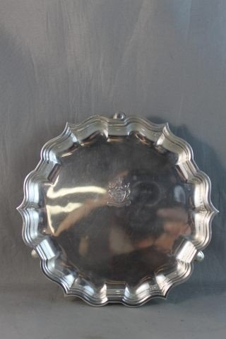 11: George V Sterling Silver Footed Card Tray,