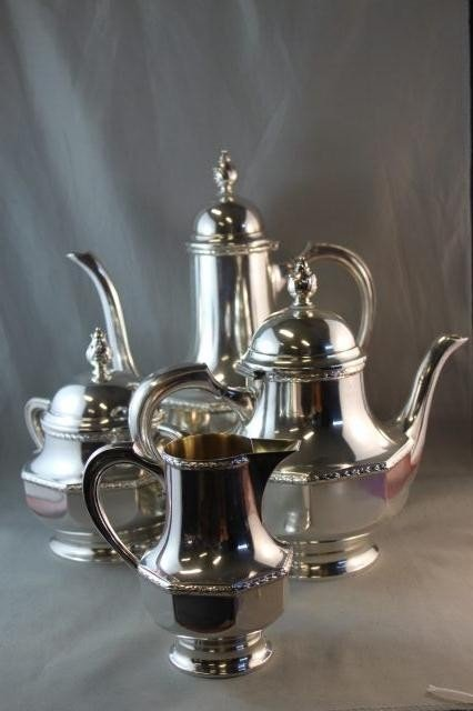 20: German Silver Tea and Coffee Service c 1920,