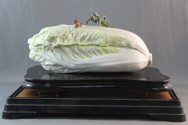 5: Chinese Porcelain Figure of a Cabbage,