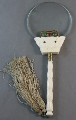 11: Chinese Ivory Mounted Magnifying Glass,