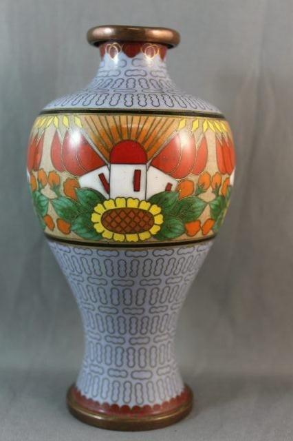 15A: Unusual Japanese Cloisonne Vase,