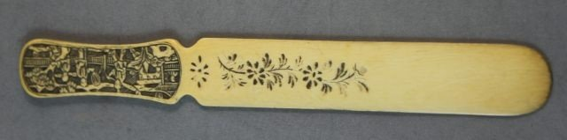 19: Chinese Qing Dynasty, 19th Century Ivory Page