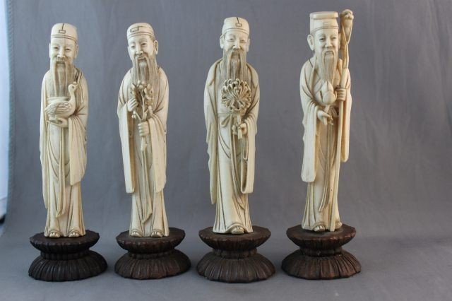 20: Set of Four Chinese Ivory Figures,