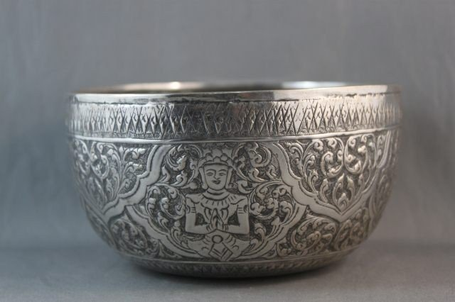 21: Chinese Indian/Chinese Silver Bowl,