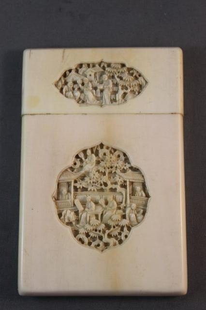 74: Chinese Qing Dynasty, 19th Century Ivory Card Case