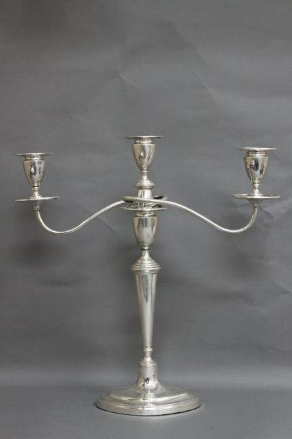 2: Edwardian Sterling Silver Three Branched