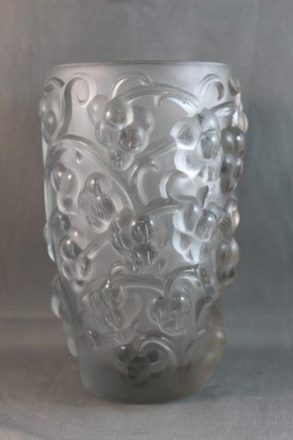 3: Good Rene Lalique Frosted Glass Vase,