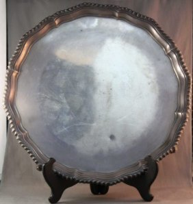 Good English Sterling Silver Footed Salver,