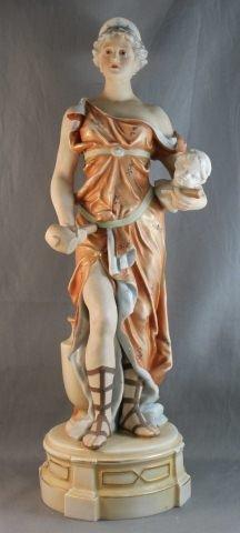 Large Royal Dux Porcelain Figure,
