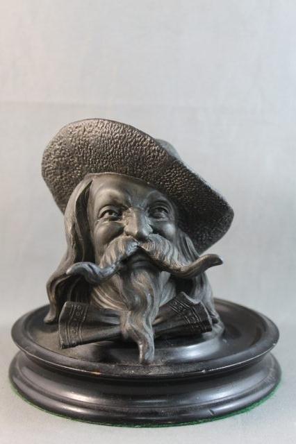74: Unusual Victorian Bronze Inkwell,